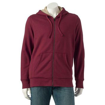 DCCKX8J SONOMA life style Solid Sherpa Full-Zip Hoodie - Men