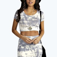 Camellia Tie Dye Capped Sleeve Mini Co Ord Set