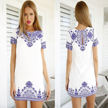 Fashion Summer Sexy Women Boho Casual Dress for Party and Date = 4661730308
