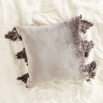 Magical Thinking Velvet Fringe Pillow - Urban Outfitters