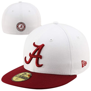 New Era Alabama Crimson Tide Two-Tone 59FIFTY Fitted Hat - White/Crimson