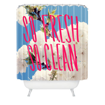 Leah Flores So Fresh So Clean Shower Curtain