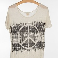 Women's Peace Sign Top in Cream by Daytrip.