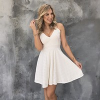 Shore Nights Ivory Eyelet Dress