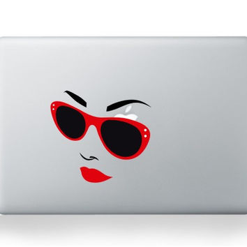 Sunglasses Lady MacBook Decal