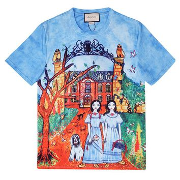 GUCCI 2018 new couples tide brand personalized print T-shirt F-CP-ZDL-YXC