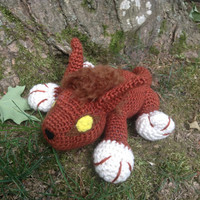 World of Warcraft Inspired: Ghostclaw/Red Lynx Amigurumi (Crochet Plushie/Plush Toy) - MADE TO ORDER