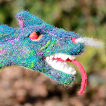 Needle Felted Dragon Sculpture