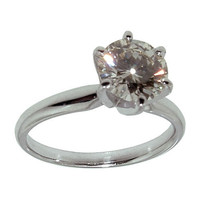 White gold 1.51 carat round diamond solitaire anniversary ring new