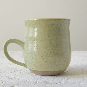 Ceramic Gift, Pottery Coffee Mug, Lime, Wheel Thrown Mug, Mom Gift, Israeli Ceramics, Handmade Mug, Tableware Gift, Kitchenware, Gift Idea