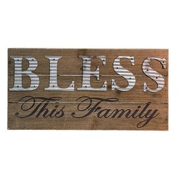 Bless This Family Sign - *FREE SHIPPING*
