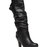 Slouchy High-Heeled Boots | Wet Seal