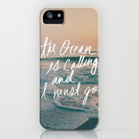 The Ocean is Calling by Laura Ruth and Leah Flores  iPhone & iPod Case by Laura Ruth