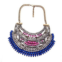 Hot Fashion Luxury Egyptian Style Vintage Costume Jewelry Choker Chunky Charm Necklace For Womens