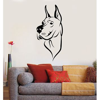 Vinyl Wall Decal Dog Pet Home Animals Nursery Stickers Mural (g375)