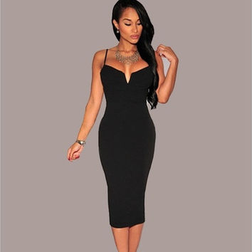 Women's Sexy Bodycon Strap Wrap Dress [9221777284]