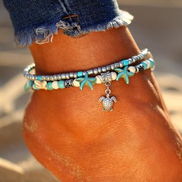 Sea Turtle Ankle Bracelet (Anklet)
