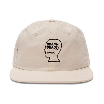 Brain Dead Hat Rip-Stop (White)