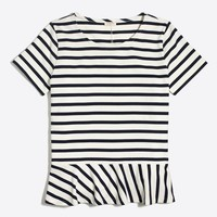 Striped peplum T-shirt