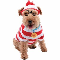 Where's Waldo Woof Dog Kit Halloween Pet Costume (Multiple Sizes Available) - Walmart.com