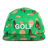 CHICKEN N WAFFLES CAMP HAT KELLY GREEN – golfwang