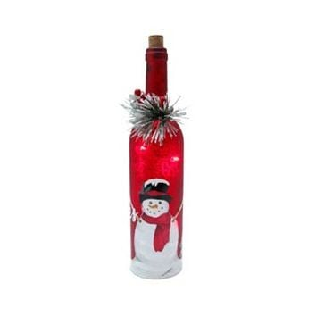 St. Nicholas Square® Snowman Light-Up Decorative Wine Bottle