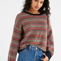 UO Hallie Striped Crew-Neck Sweater | Urban Outfitters