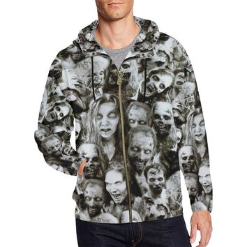 Creeper Z Zombies Men's All Over Print Full Zip Hoodie