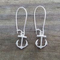 Anchor Earrings Dangling by WaveofLife on Etsy