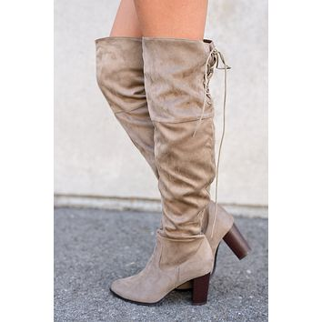 City Classic Thigh High Boot (Taupe)