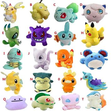 20 Styles Plush Toy 12-18cm Peluche Pikachu Snorlax Charmander Mewtwo Dragonite Cute Soft Stuffed Dolls For Kids Christmas Gift