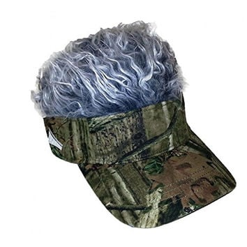 Flair Hair Mossy Oak Grey Hat Cap Size Standard