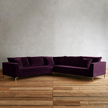 Velvet Edlyn L-Shaped Sectional