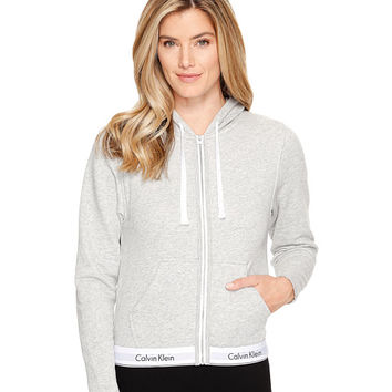 Calvin Klein Underwear Modern Cotton Line Extension Top Full Zip Hoodie Grey Heather - Zappos.com Free Shipping BOTH Ways