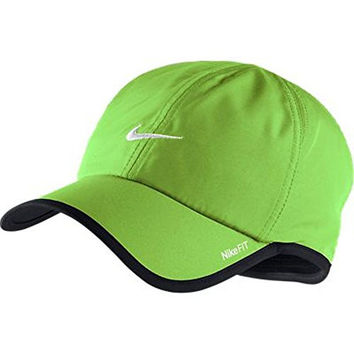 Nike Mens Featherlight Cap Flash Lime/black/white One Size