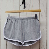 Grey Bind Shorts