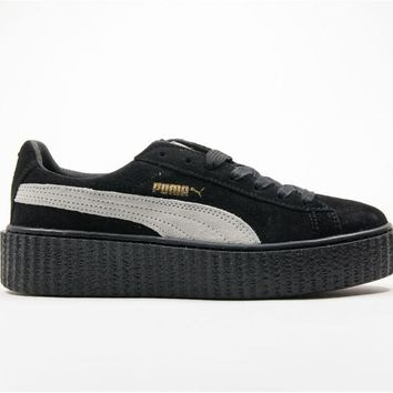 RIHANNA X PUMA SUEDE CREEPER BLACK/WHITE