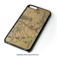 Lord Of The Rings Map Design for iPhone and iPod Touch Case