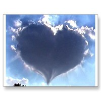 Love is in the Air: Heart Shaped Cloud: Wedding Post Cards from Zazzle.com