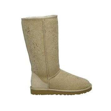 Uggs Boots Cyber Monday Classic Fancy 5998 Sand For Women 84 84