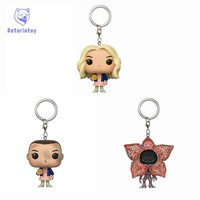 Keychain stranger things DEMOGORGON and Eleven with eggos Toys Action Figure Collectible Model Vinyl Dolls Keyring Children Gift