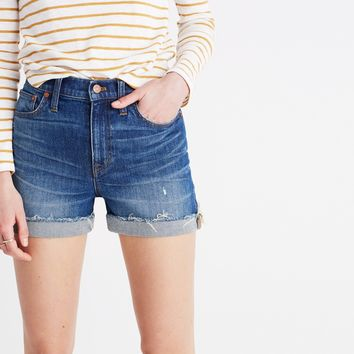 High-Rise Denim Boyshorts in Glenoaks Wash: Cutoff Edition : | Madewell