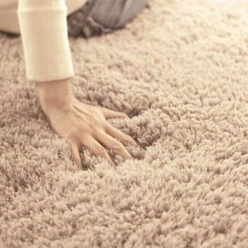Plush  Lined Area Rug For The Home