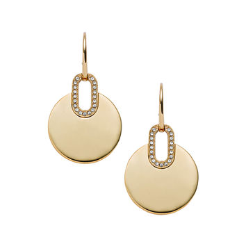 Pave City Disc Earrings - Michael Kors