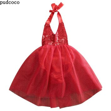 Hot Newborn Infant Baby Dresses Summer Baby girls clothes Party Bowknot Pearl Pageant baby Girl Dress tulle tutu Squins dresses