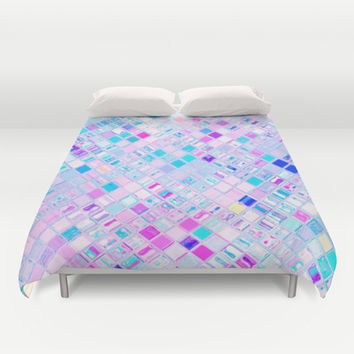 Re-Created  Mosaic No. THREE Duvet Cover by Robert S. Lee