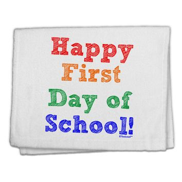 """Happy First Day of School 11""""x18"""" Dish Fingertip Towel"""