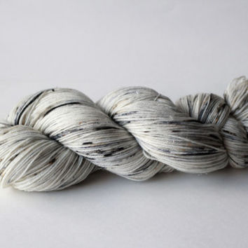 Snowy Owl -  Sparkle Fingering/Sock Hand-Painted Yarn - 463 yds / 100g