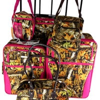 Luggage Real Tree Camo 6 Pc Travel Set Messenger Gadget Pet Carrier Expandable