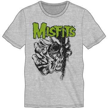 The Misfits Band Skull Wearing Goggles Men's Gray T-Shirt